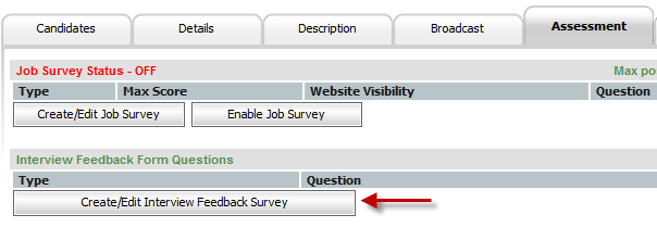 Interview Survey Feedback Interface